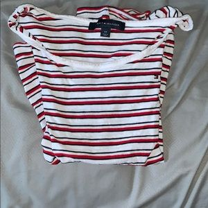 Red, Black & White striped Tommy Hilfiger shirt